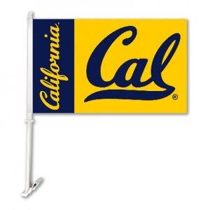 Cal Berkeley Golden Bears Car Flag with Wall Bracket Style #97056