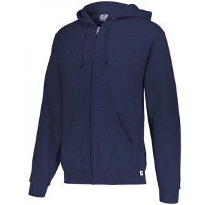Russell Athletic Dri-Power Performance Full Zip Hooded Sweatshirt - Navy