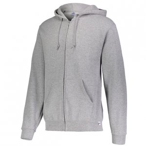 Russell Athletic Dri-Power Performance Full Zip Hooded Sweatshirt Style #697HBMI Oxford