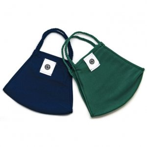 Face Mask 2 Pack - Navy Solid and Green Solid