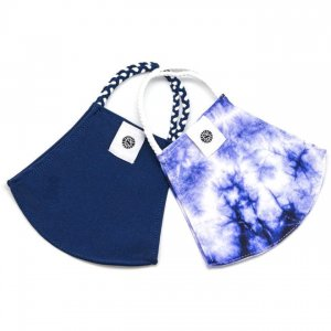 Face Mask 2 Pack - Indigo Tie Dye & Navy Solid