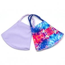 Face Mask 2 Pack - Turquoise Tie Dye and Lavender Solid